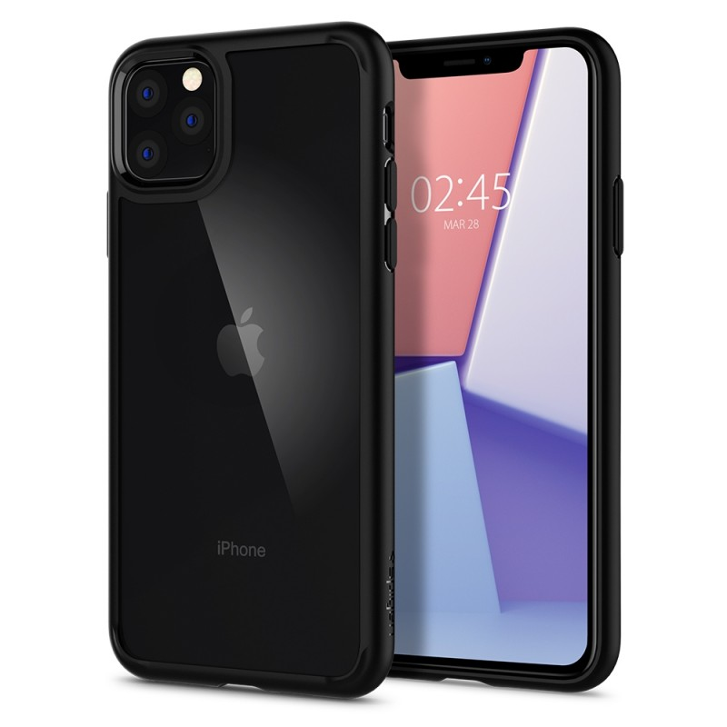Spigen Ultra Hybrid Case iPhone 11 Pro Zwart - 1
