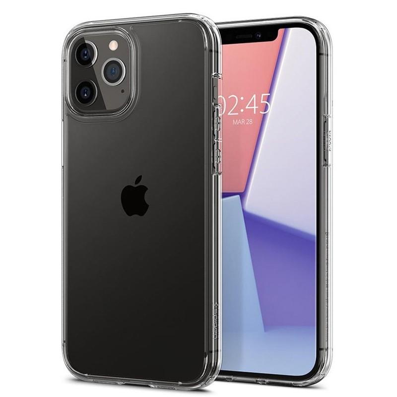 Spigen - Ultra Hybrid iPhone 12 / iPhone 12 Pro 6.1 inch transparant 01