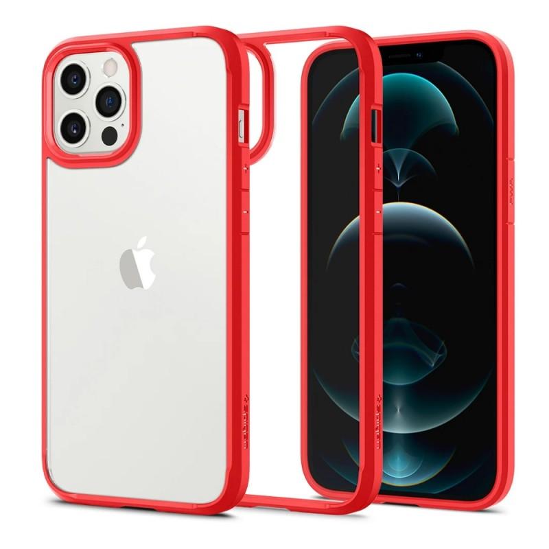 Spigen Ultra Hybrid Case iPhone 12 / 12 Pro Rood - 1