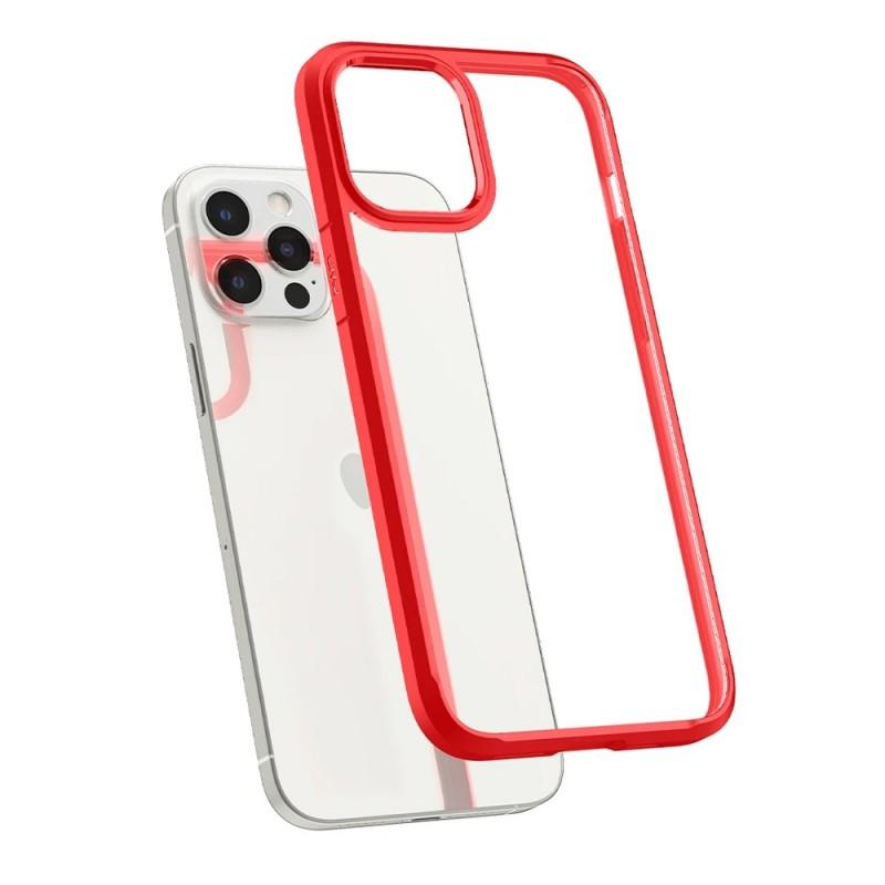 Spigen Ultra Hybrid Case iPhone 12 / 12 Pro Rood - 2