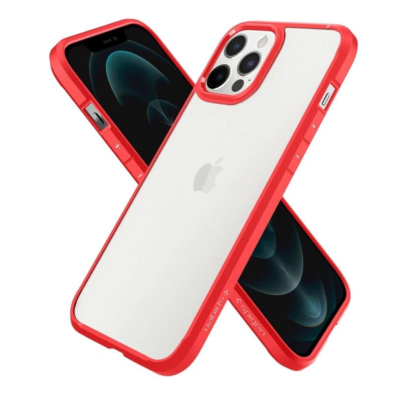 Spigen Ultra Hybrid Case iPhone 12 / 12 Pro Rood - 6
