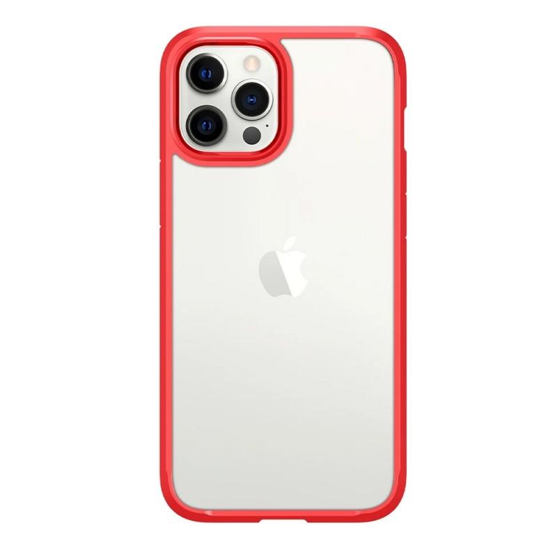 Spigen Ultra Hybrid Case iPhone 12 / 12 Pro Rood - 3