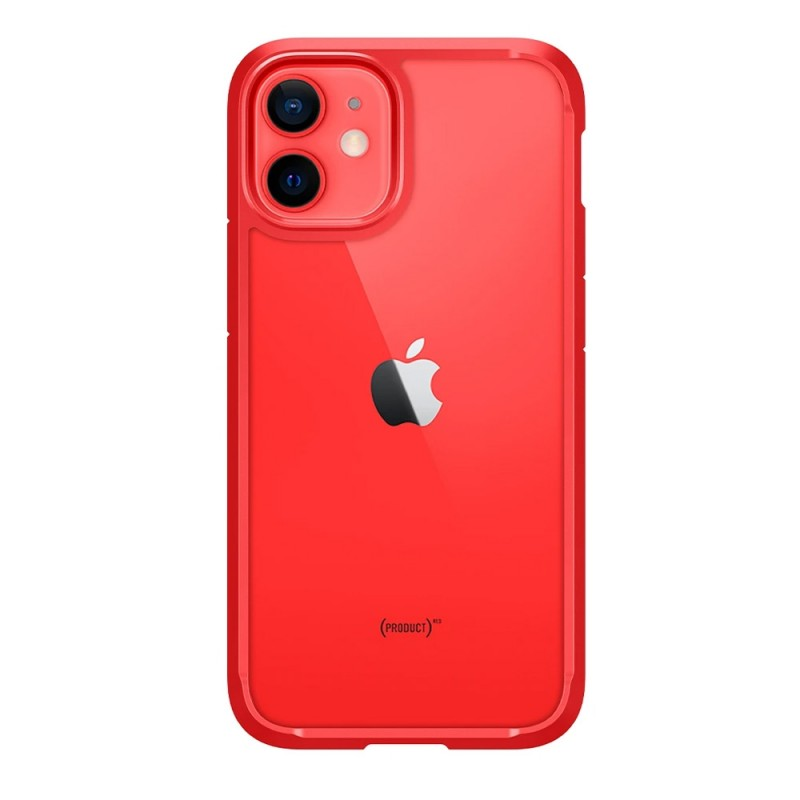 Spigen Ultra Hybrid Case iPhone 12 Mini Rood - 6