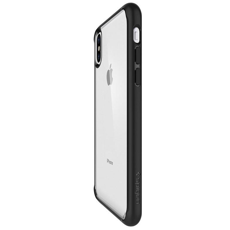 Spigen - Ultra Hybrid iPhone X/Xs Hoesje Black Clear 06
