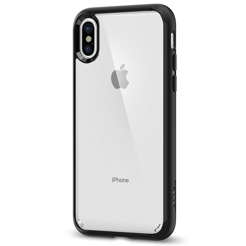 Spigen - Ultra Hybrid iPhone X/Xs Hoesje Black Clear 05