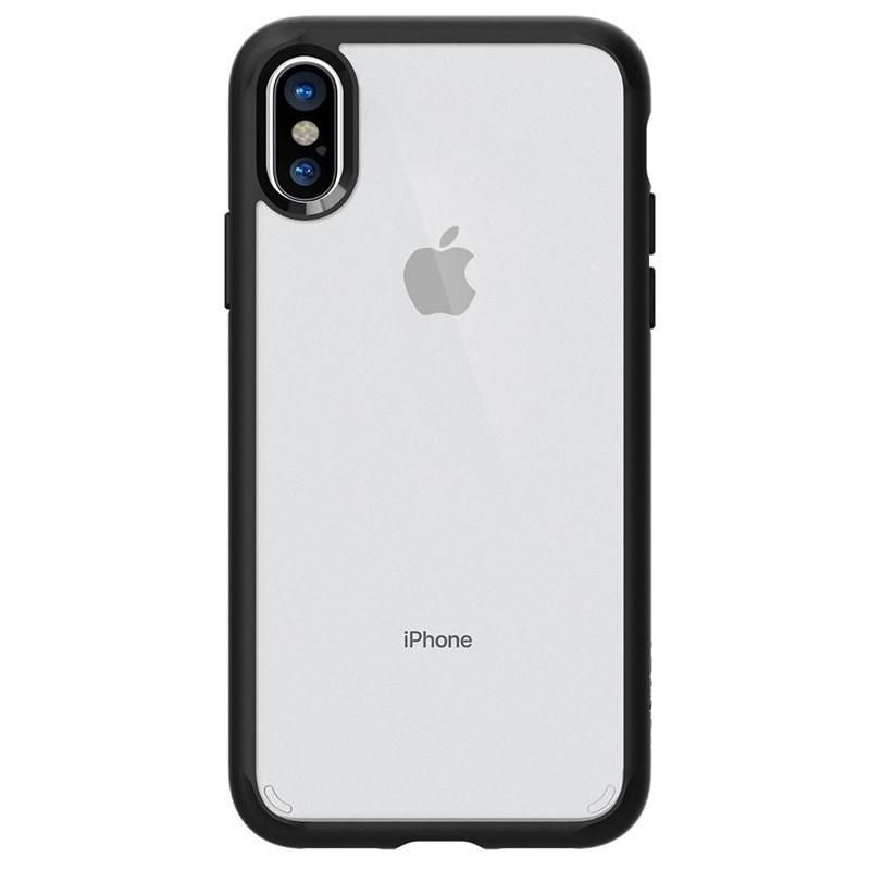 Spigen - Ultra Hybrid iPhone X/Xs Hoesje Black Clear 04
