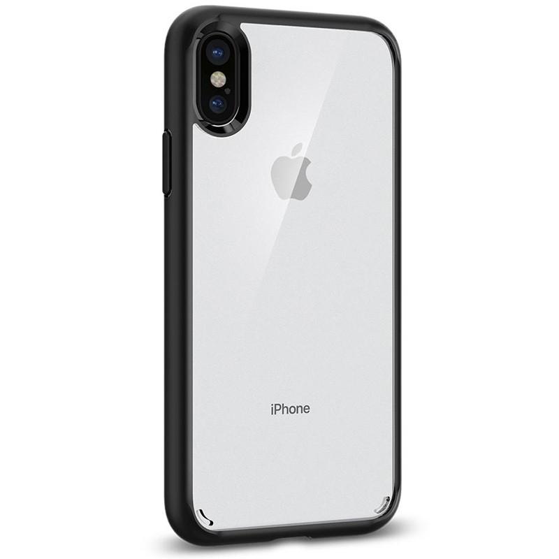 Spigen - Ultra Hybrid iPhone X/Xs Hoesje Black Clear 08