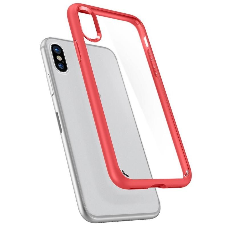 Spigen - Ultra Hybrid iPhone 8 Hoesje Red 02