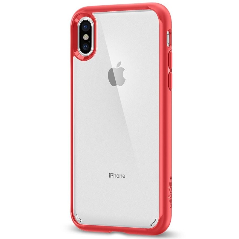 Spigen - Ultra Hybrid iPhone 8 Hoesje Red 05