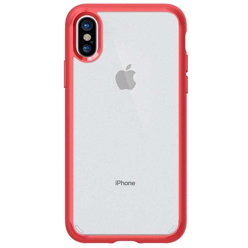 Spigen - Ultra Hybrid iPhone 8 Hoesje Red 04