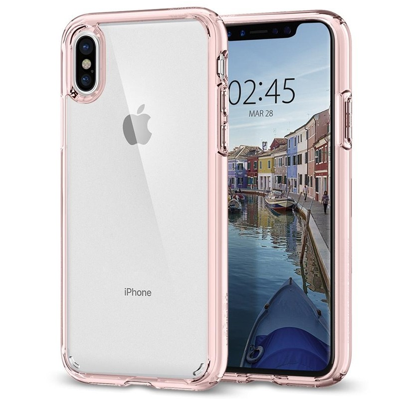 Spigen - Ultra Hybrid iPhone 8 Hoesje Rose Gold 01