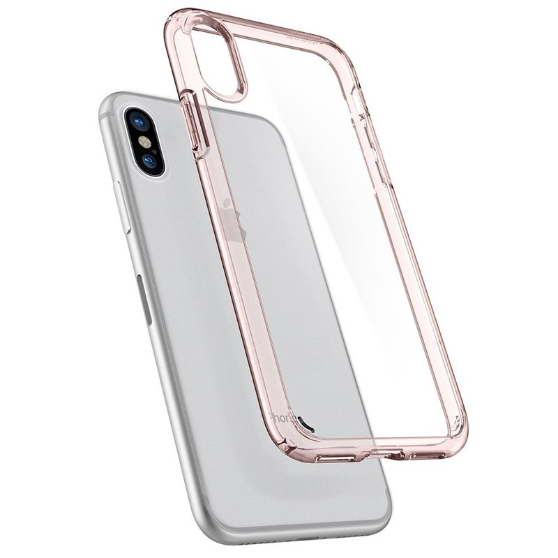 Spigen - Ultra Hybrid iPhone 8 Hoesje Rose Gold 02