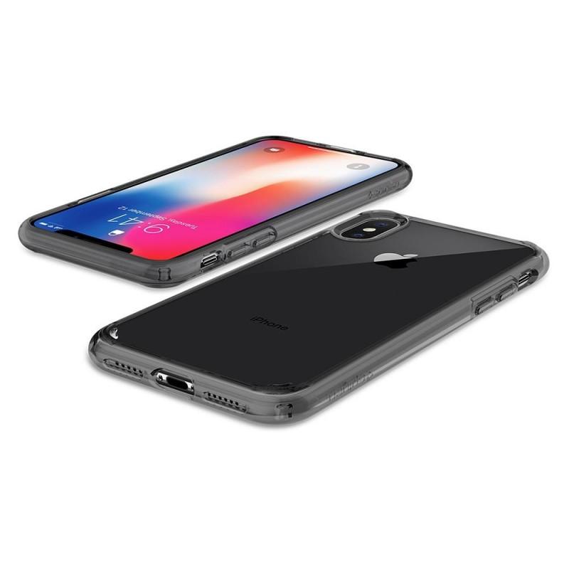 Spigen Ultra Hybrid iPhone X/Xs Hoesje Grijs/Transparant - 3