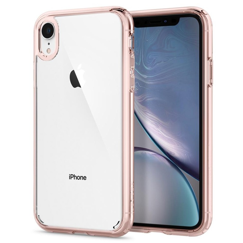 Spigen Ultra Hybrid iPhone XR Hoes Roze Transparant 01