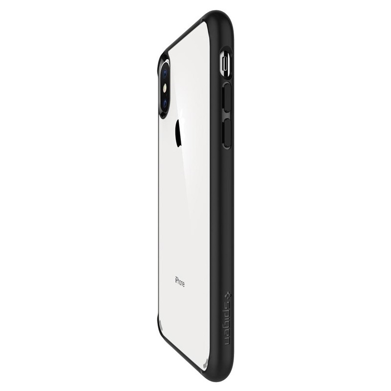 Spigen Ultra Hybrid iPhone XS Max Hoesje zwart / transparant 02
