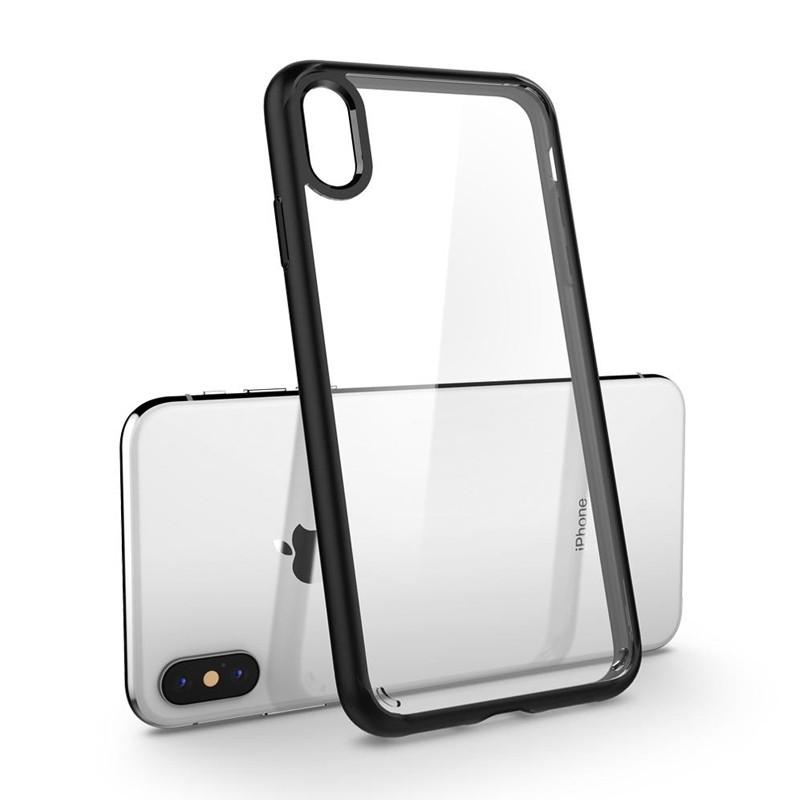 Spigen Ultra Hybrid iPhone XS Max Hoesje zwart / transparant 03