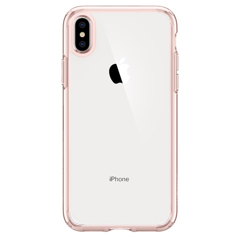 Spigen Ultra Hybrid iPhone XS Max Hoesje roze / transparant 01