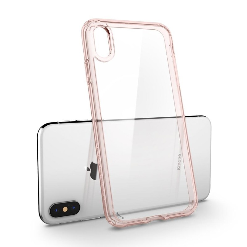 Spigen Ultra Hybrid iPhone XS Max Hoesje roze / transparant 03