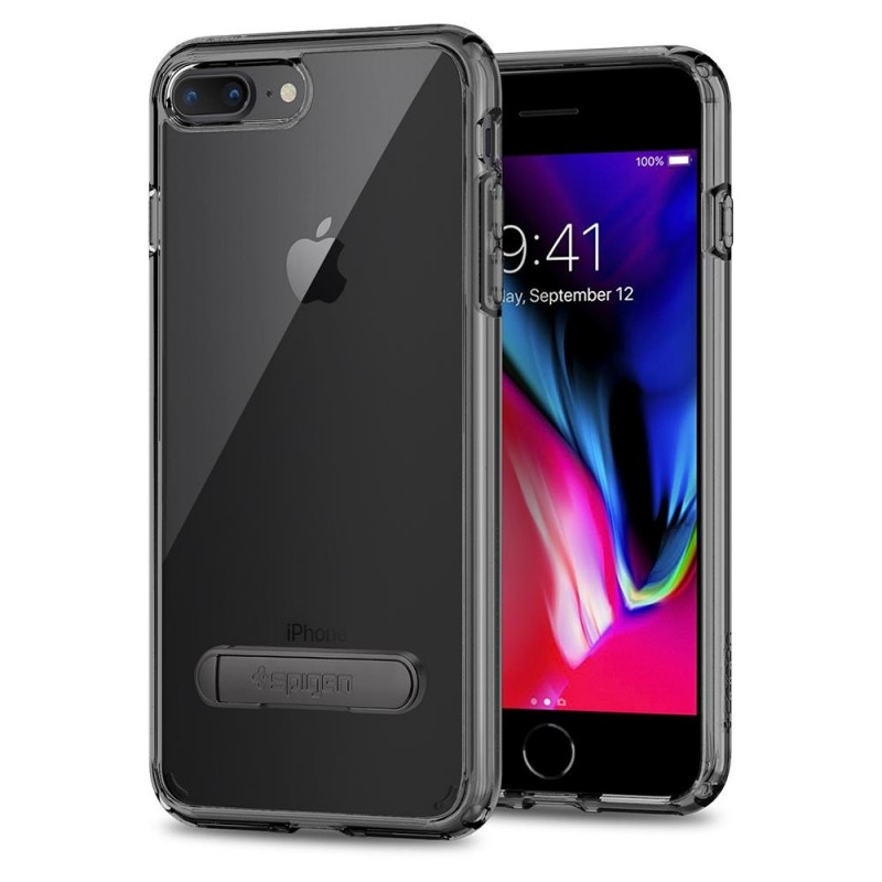 Spigen Ultra Hybrid S Case iPhone 8 Plus/7 Plus Zwart - 1