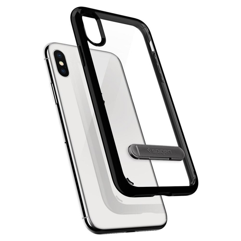 Spigen Ultra Hybrid S iPhone X/Xs Hoesje Zwart/Transparant - 2