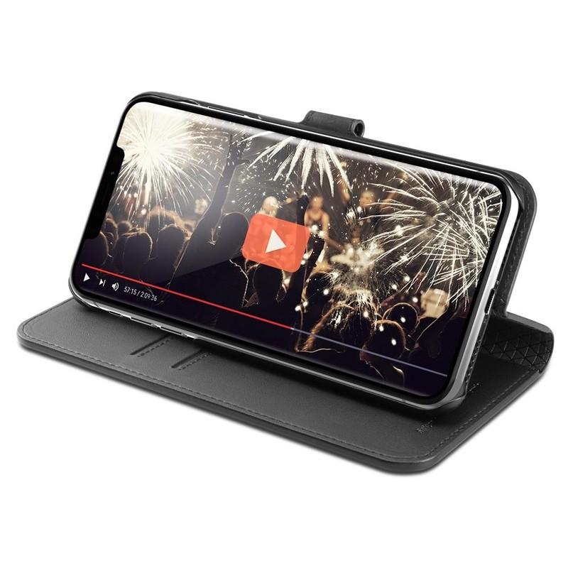 Spigen Ultra Hybrid S iPhone XS Max Hoesje Zwart 05