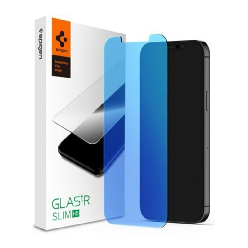 Spigen Anti Blue Screenprotector iPhone 12 Pro Max 6.7 inch 01