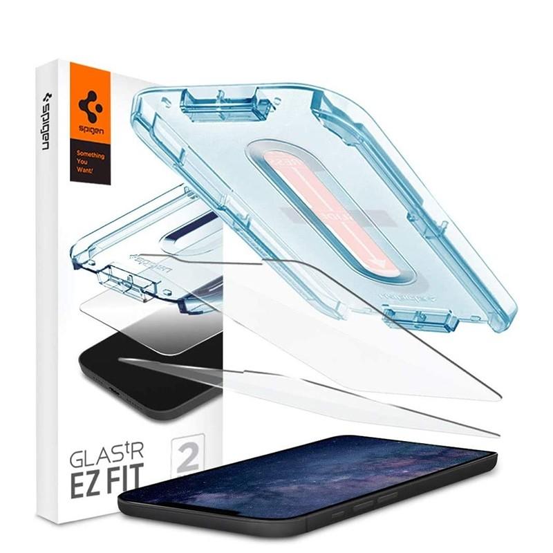 Spigen Glass tR EZ Fit iPhone 12 / 12 Pro 2 Pack 01
