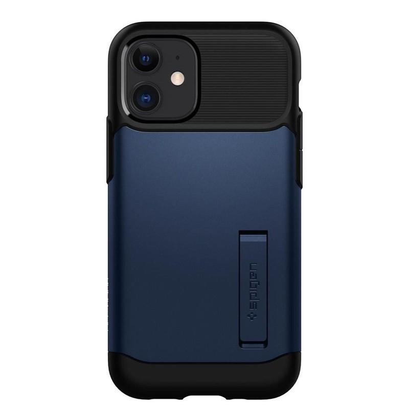 Spigen Slim Armor iPhone 12 Mini 5.4 inch Blauw 02