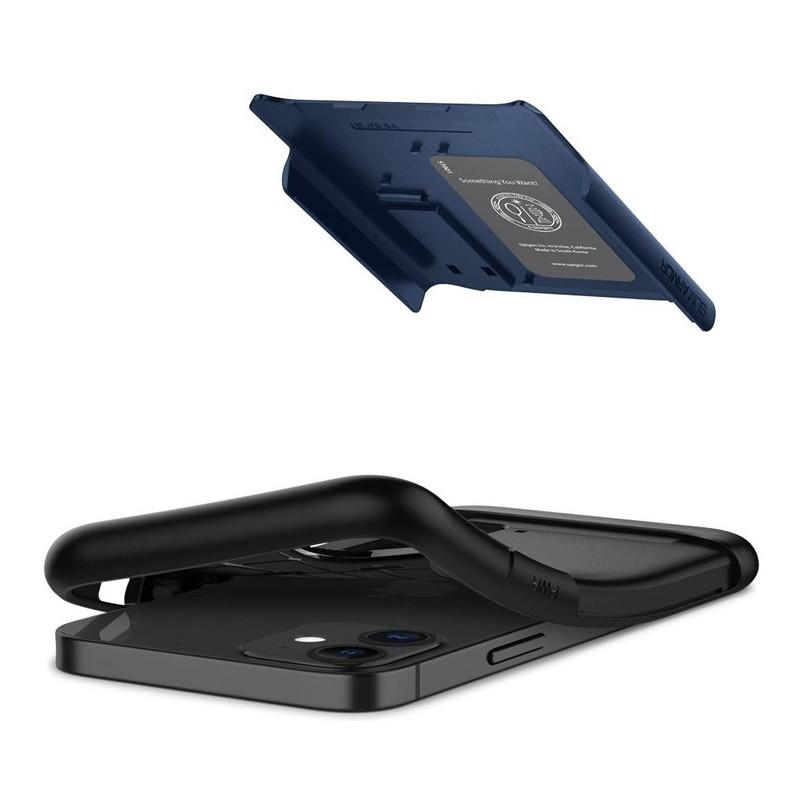 Spigen Slim Armor iPhone 12 Mini 5.4 inch Blauw 05