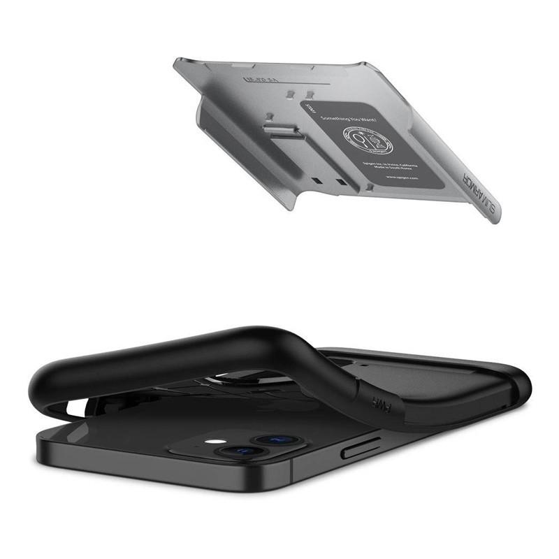 Spigen Slim Armor iPhone 12 Mini 5.4 inch Zilver 04