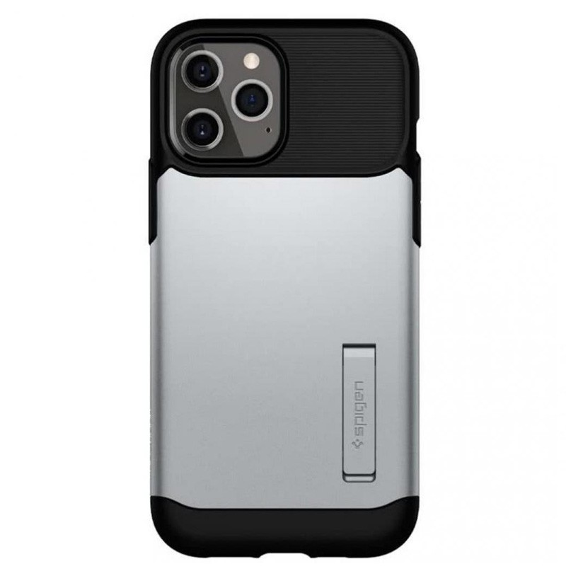 Spigen Slim Armor iPhone 12 Pro Max 6.7 inch Zilver 02
