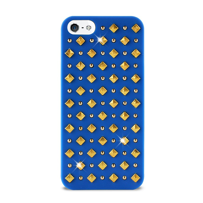 Puro Studs Backcover iPhone 5/5S Blue - 1