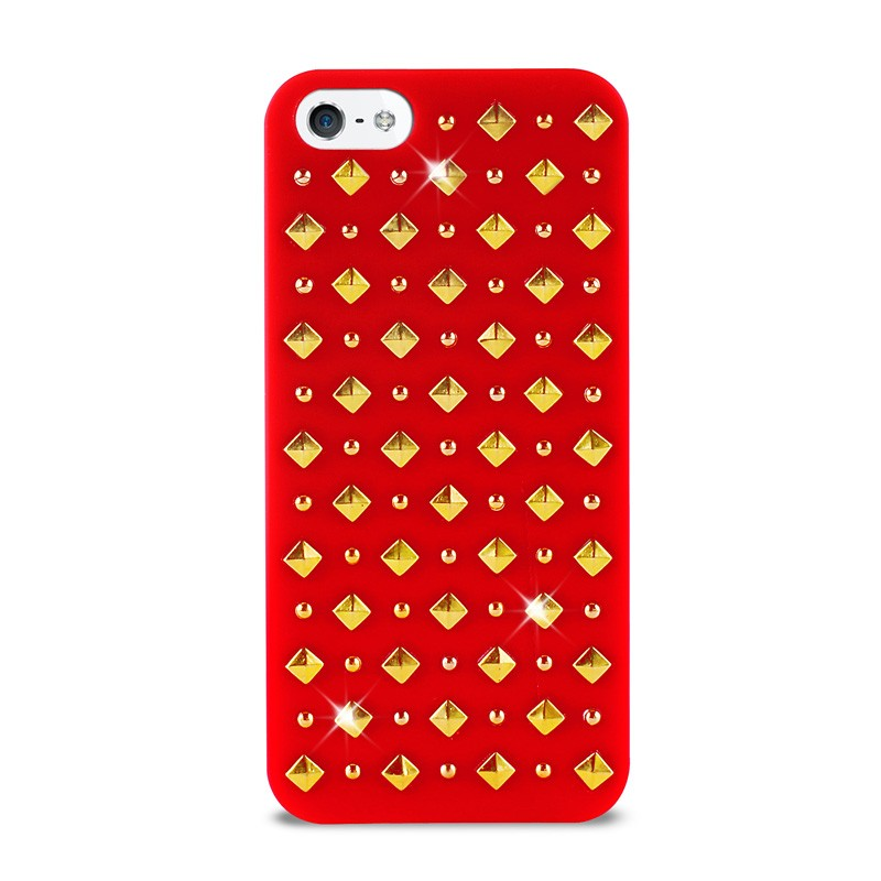 Puro Studs Backcover iPhone 5/5S Red - 1