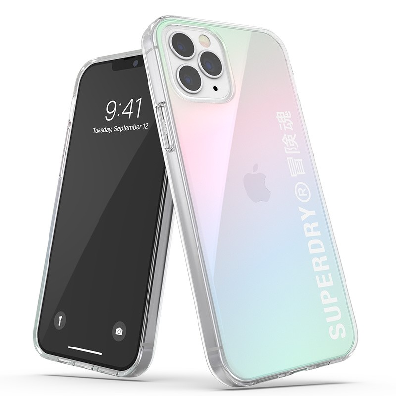 Superdry Snap Case Clear iPhone 12 / iPhone 12 Pro Holographic 01