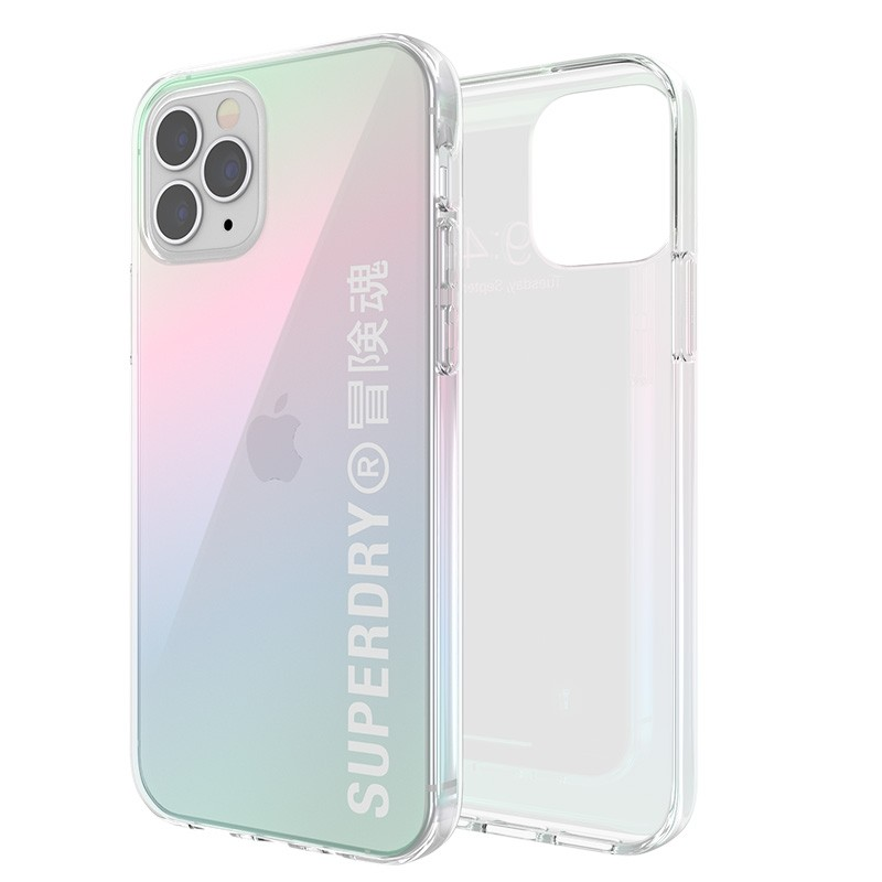 Superdry Snap Case Clear iPhone 12 / iPhone 12 Pro Holographic 06
