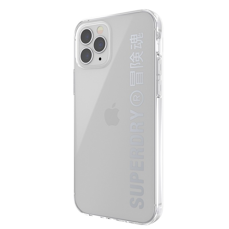 Superdry Snap Case Clear iPhone 12 / iPhone 12 Pro zilver 05