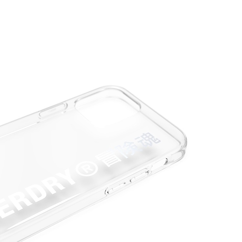 Superdry Snap Case Clear iPhone 12 / iPhone 12 Pro zilver 07
