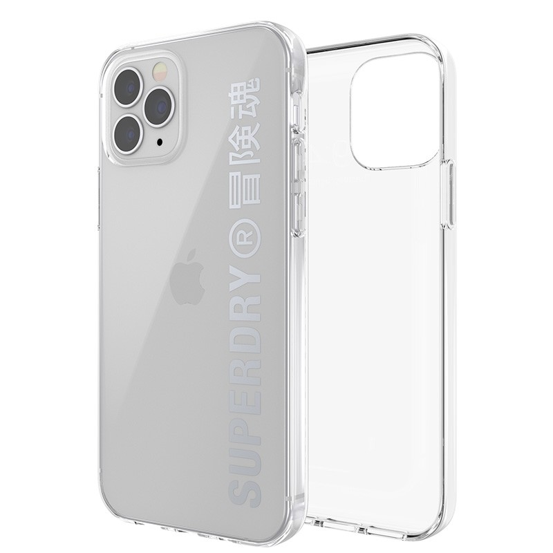 Superdry Snap Case Clear iPhone 12 / iPhone 12 Pro zilver 06