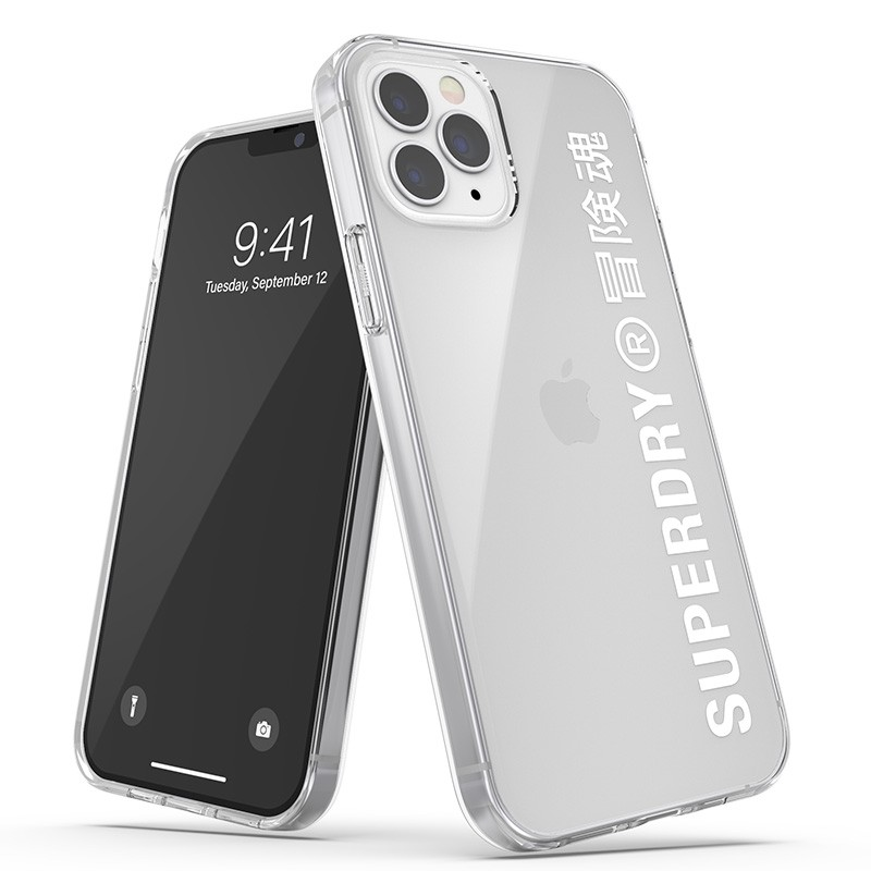 Superdry Snap Case Clear iPhone 12 / iPhone 12 Pro wht/clr 01