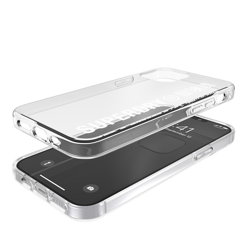 Superdry Snap Case Clear iPhone 12 / iPhone 12 Pro wht/clr 03