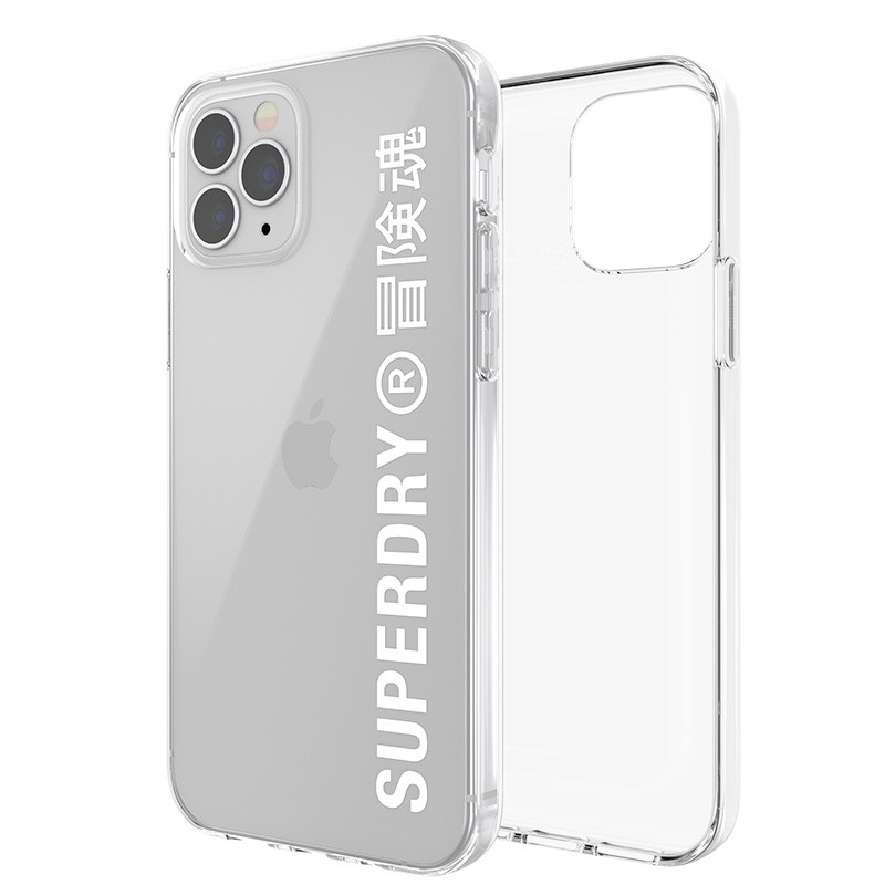 Superdry Snap Case Clear iPhone 12 Pro Max wht/clr 07
