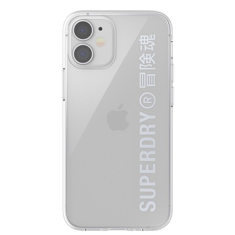 Superdry Snap Case Clear iPhone 12 Mini zilver 02