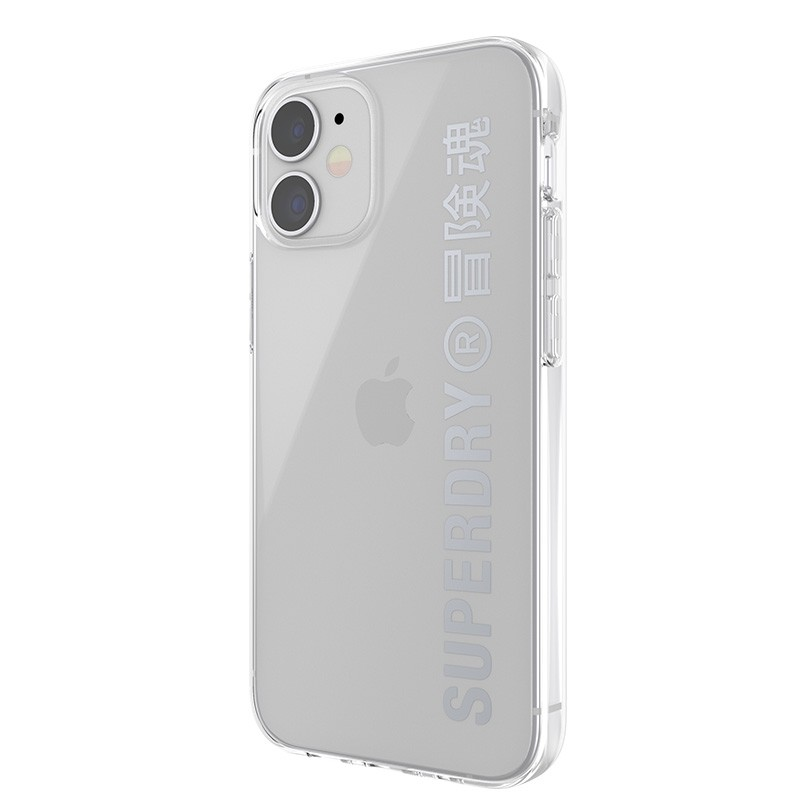 Superdry Snap Case Clear iPhone 12 Mini zilver 05
