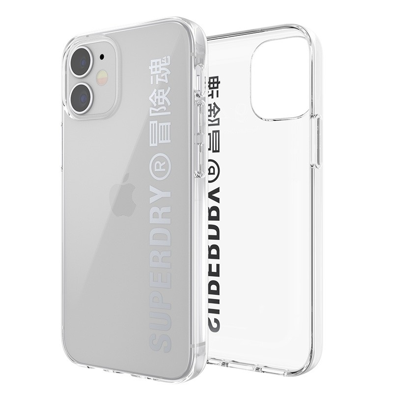 Superdry Snap Case Clear iPhone 12 Mini zilver 06
