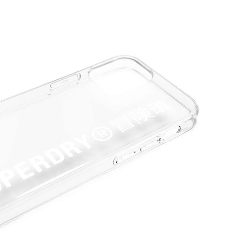 Superdry Snap Case Clear iPhone 12 Mini wit/transparant 04