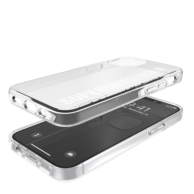 Superdry Snap Case Clear iPhone 12 Mini wit/transparant 03