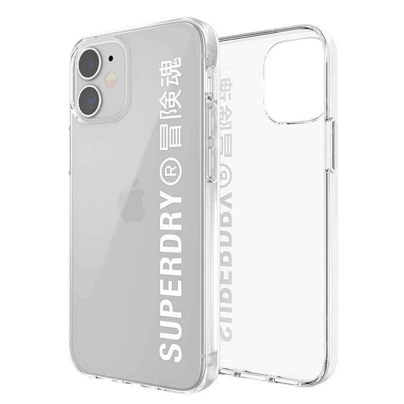 Superdry Snap Case Clear iPhone 12 Mini wit/transparant 02