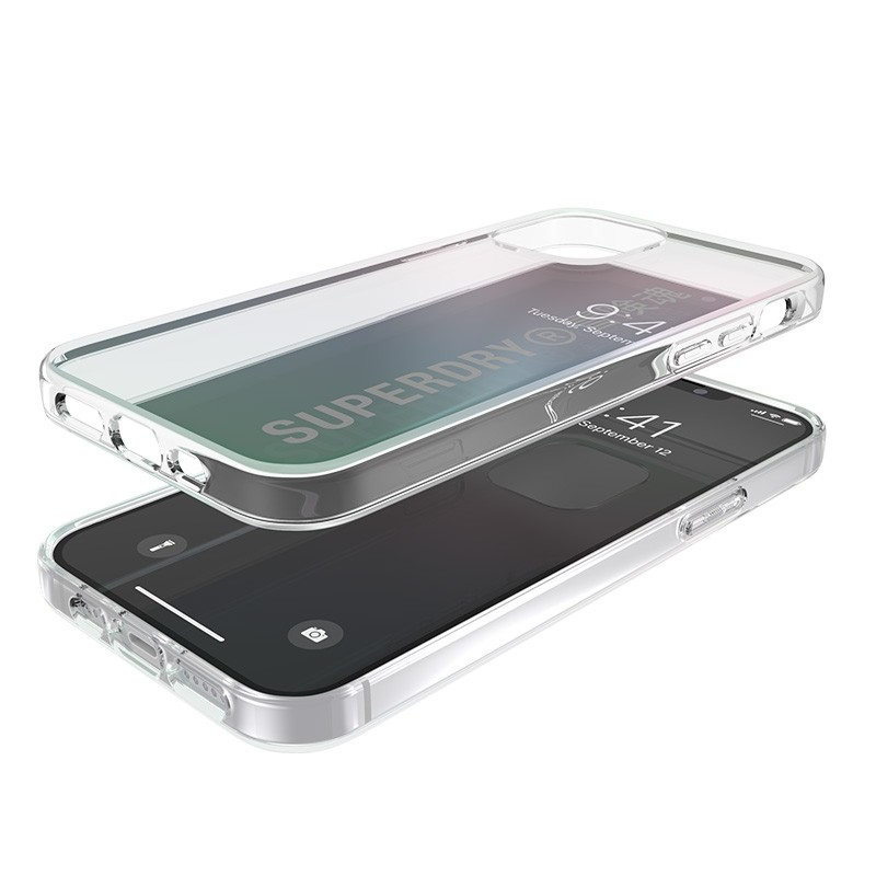 Superdry Snap Case Clear iPhone 12 Mini Holographic 03