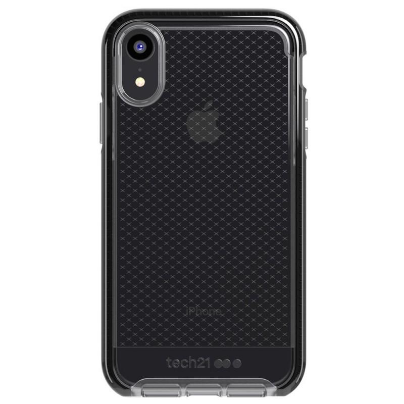 Tech21 - Evo Check iPhone XR Hoesje Zwart Transparant 01