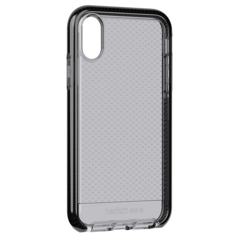 Tech21 - Evo Check iPhone XR Hoesje Zwart Transparant 02